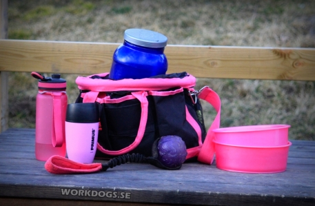 Rosa hundträningsväska